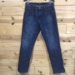 Men's Gap straight distressed denim jeans 34x34